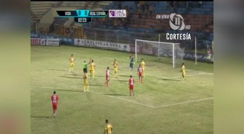 Vida 3 - 2 Real España (Liga Nacional)