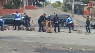 Tegucigalpa: Despejan bulevar Centroamérica ante protestas