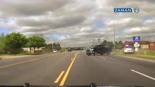 Amerikan filmlerini aratmayan polis kovalamacası kameraya böyle yansıdı