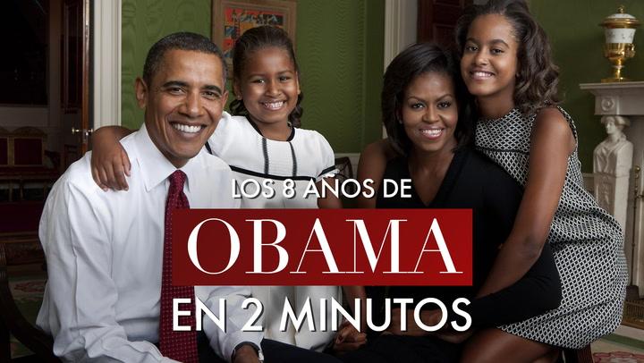 En vídeo: Los ocho años de la familia Obama contados en dos minutos