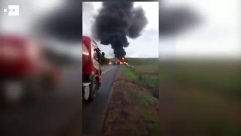 Accidente múltiple de tránsito en Brasil deja 21 muertos