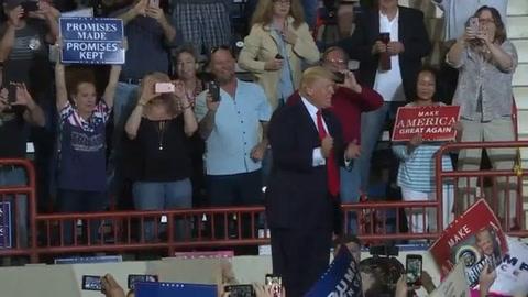 Trump celebró 100 días