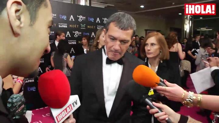 Antonio Banderas: \'Con el Goya de Honor me he acordado mucho de mis padres y de mi hija\'