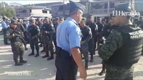 Realizan operativos de seguridad afuera de los institutos de la capital