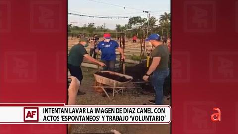 """Intentan lavar la imagen de Díaz-Canel con actos """"Espontáneos"""" y trabajo """"Voluntario"""""""