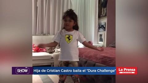 Hija de Cristian Castro es furor bailando el