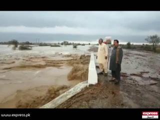 بیلہ میں طوفانی بارشیں، سیلابی ریلوں نے تباہی مچادی