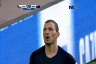 Gooooooooool de Australia, al minuto 41 Troisi pone el 1-0 ante la selección de Chile
