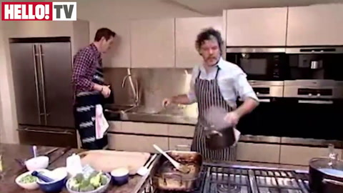 Peter Gordon shows ex-England star Will Greenwood how to make a roast leg of lamb treat for Mother's Day Part 3