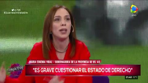 Nuevo round con chicanas entre María Eugenia Vidal y Brancatelli en Intratables