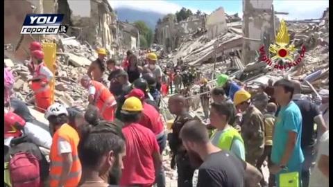 Veneti in prima linea nell'inferno del sisma