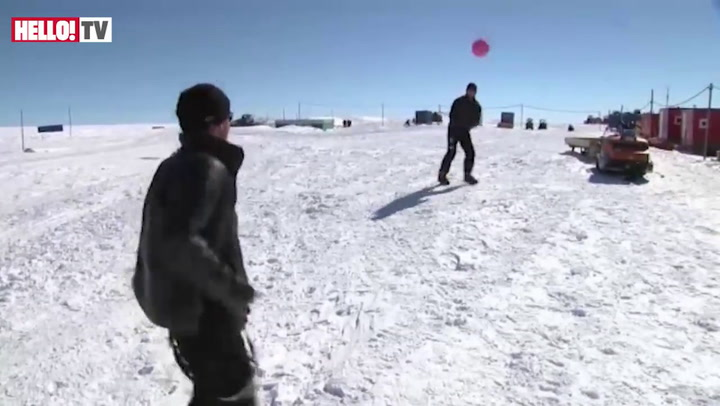 Prince Harry enjoys a game of rugby in Antarctica