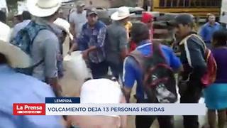 Volcamiento deja 13 personas heridas en Lempira