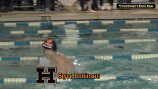 Tigers' Robinson Takes 100 Yard Breaststroke Title