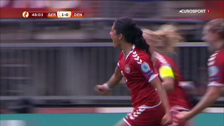 Sådan Nadim! Header stærkt Danmark tilbage i kampen mod tyskerne