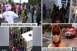 El video que divulga la NBC sobre la brutal pelea entre aficionados de Olimpia-Motagua: