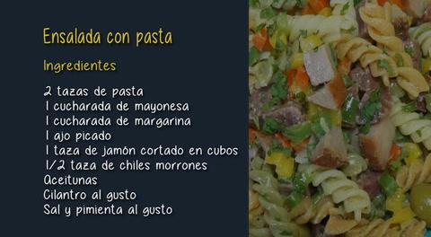 Cocinando con Mayte: Cómo hacer una ensalada con pasta