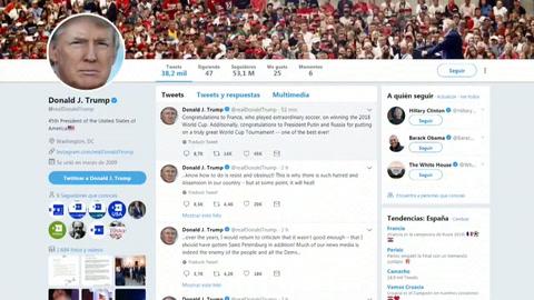 Trump felicita a Francia por la victoria y a Putin por la organización del Mundial