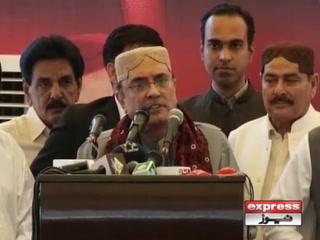 ہم اسلام آباد یا پاکستان کے حق پر ڈاکا نہیں ڈالتے تو کوئی سندھ کے حق پر بھی ڈاکا نہ ڈالے، آصف زرداری