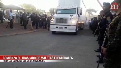 ELECCIONES: Inicia traslado de maletas a departamentos lejanos