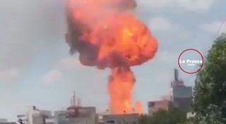 México: Video registra explosión después del terremoto