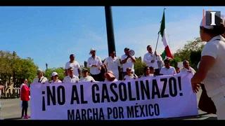 Tapatíos marchan contra alza en gasolinas