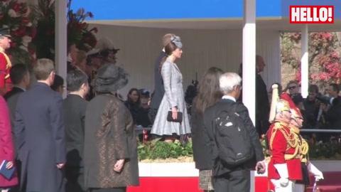 The Duchess of Cambridge debuts baby bump as she makes public comeback