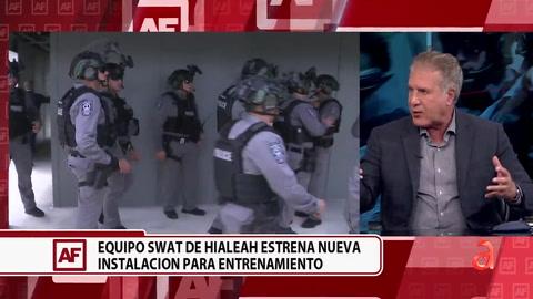 Conversamos con el alcalde de Hialeah sobre las nuevas instalaciones donde entrenará el equipo SWAT de esa ciudad