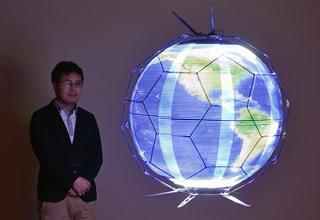 Crean dron que reproduce imágenes esféricas en vuelo