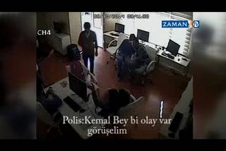 Karşı'ya polis baskını kamerada