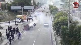 Tegucigalpa: Despejan toma de calle en el sector de El Carrizal