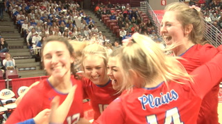 Plains Vs. St. Thomas More 2A State Volleyball Semifinals