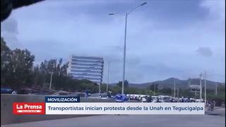 Transportistas Inician Protesta Desde La Unah En Tegucigalpa