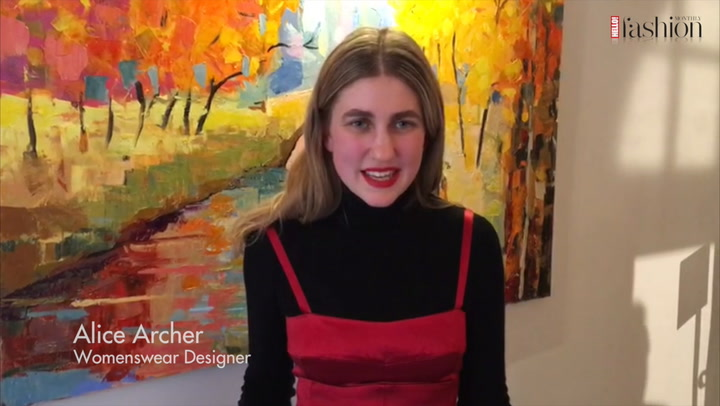 Designer Alice Archer speak to HFM about her new LFW collection .mp4