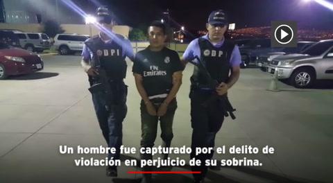 Capturan a hombre que abusó sexualmente de su sobrina
