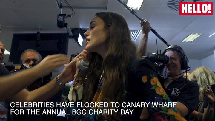 Keira Knightley And Other Celebrities Flock To Canary Wharf For 9:11 Charity Day