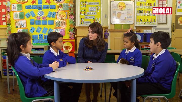 La Duquesa de Cambridge entrevista a varios escolares en apoyo a la Semana de la Salud Mental de los Niños
