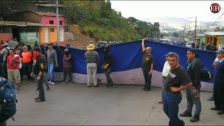 Comienzan a despojar protestas en la salida al oriente del país