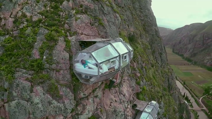 Sleep On The Side Of A Mountain In These Vertigo-Inducing Pods