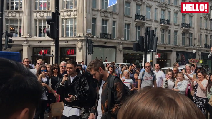 One Direction star Liam Payne surprises fans on Oxford Street