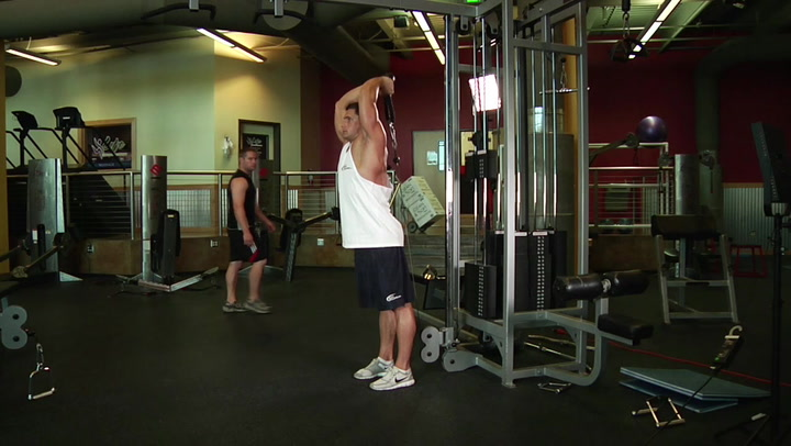 Cable Rope Overhead Tricep Extension - Tricep Exercise - Bodybuilding.com