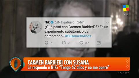 Polémico sentido del humor: los tuits de Nik contra Carmen Barbieri