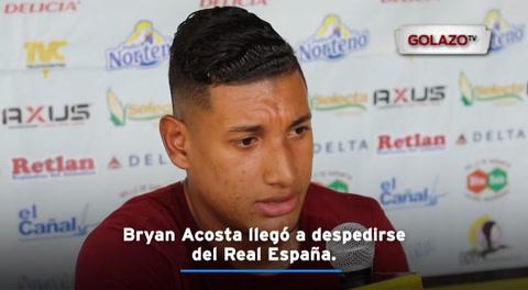 Bryan Acosta llegó a despedirse del Real España