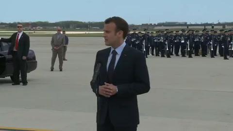 Macron da inicio a visita de Estado de tres días en Washington