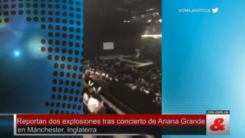 Reportan dos explosiones tras concierto de Ariana Grande en Manchester
