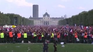 ¡Tremenda locura! Así se celebró en París uno de los goles de Francia ante Croacia
