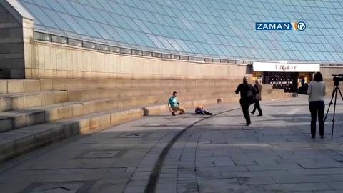 Sarhoş gençler duvarın üzerinden yere çakıldı!