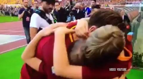 Las lágrimas de Totti y toda la Roma en su adiós