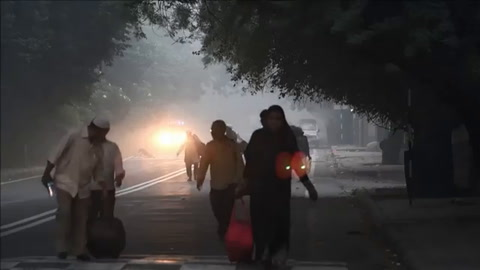 Neblina tóxica cubre a Nueva Delhi