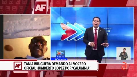 Tania Bruguera demandó al vocero oficial Humberto López por Calumnia